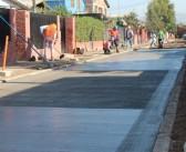 Obras en ejecución en diferentes calles de Padre Hurtado