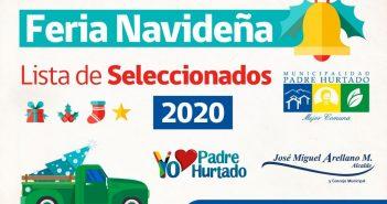 Nómina de Seleccionados Feria Navideña 2020
